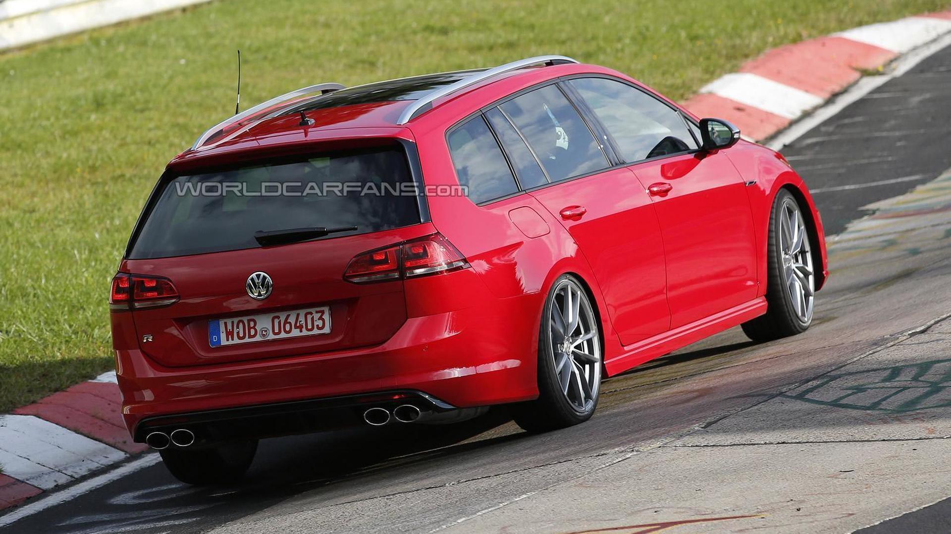 Фото | VW Golf R Variant на испытаниях