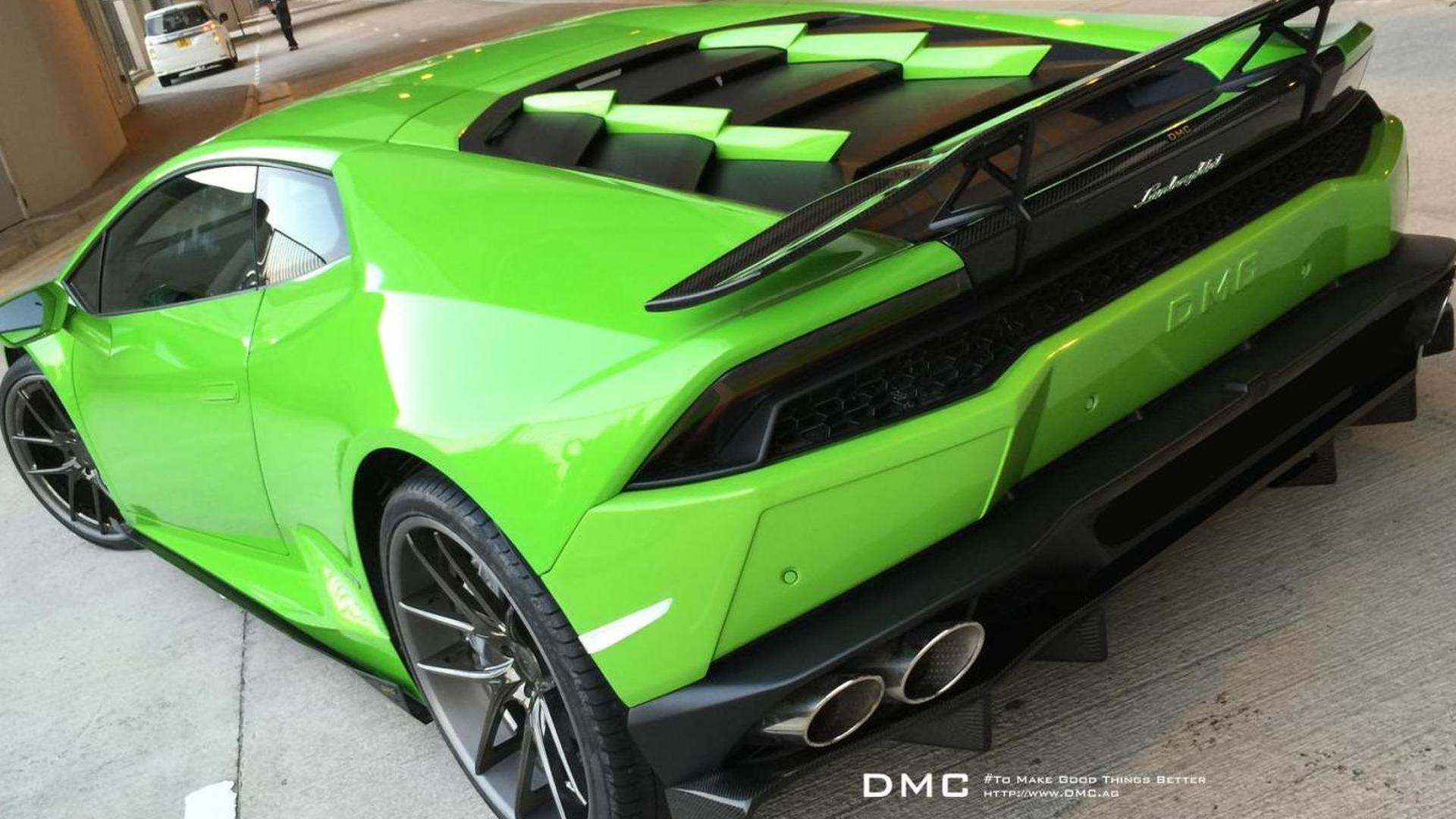 Зелёная Lamborghini Huracan Affari Verde MANtis