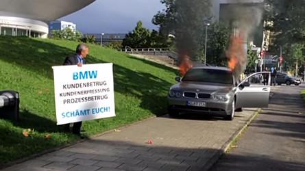 VIDÉO - Mécontent, il incendie sa BMW Série 7 à Munich