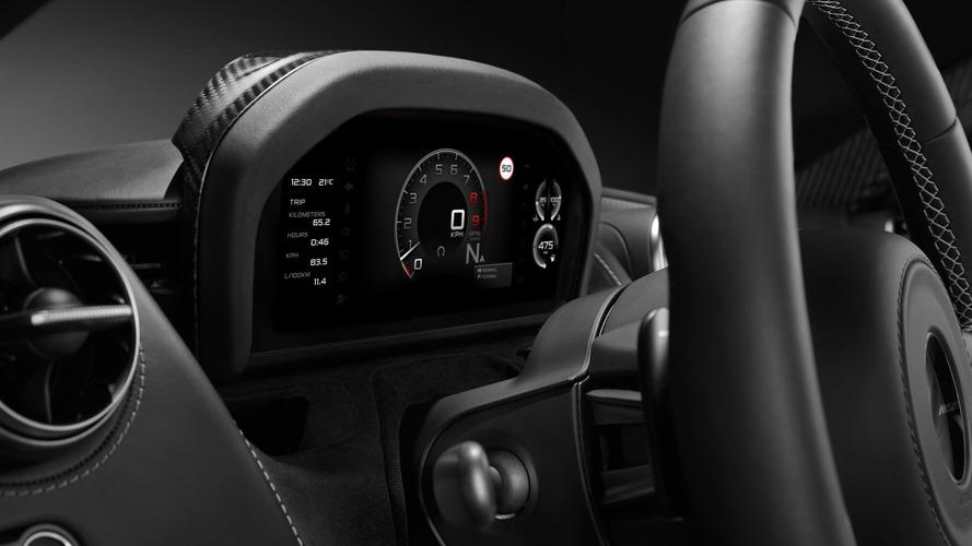 McLaren 720S'in katlanır gösterge paneli