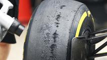 Worn Pirelli tyres 25.10.2013 Indian Grand Prix