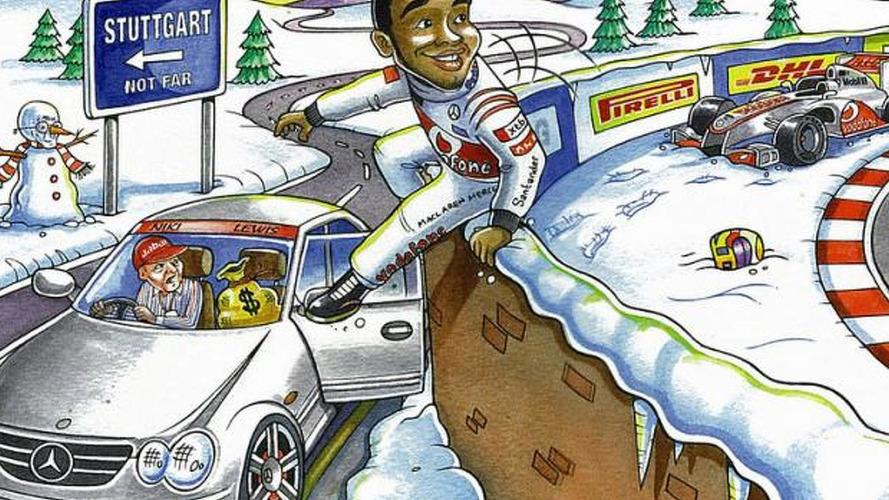 Ecclestone says Hamilton chasing Mercedes cash