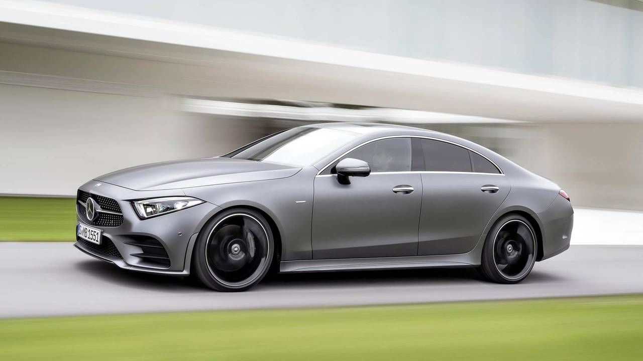 see how the 2019 mercedes benz cls looks on a real road. Black Bedroom Furniture Sets. Home Design Ideas