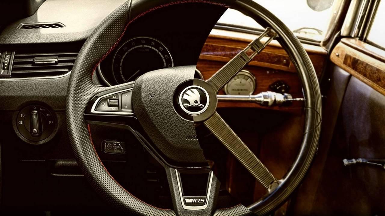 Skoda steering wheel evolution