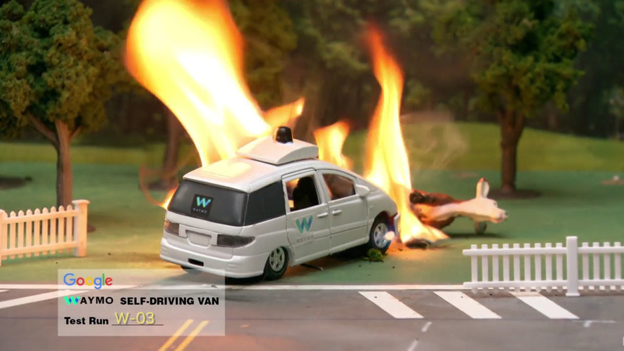Conan O'Brien 'uncovers' fiery footage of Google's self-driving car