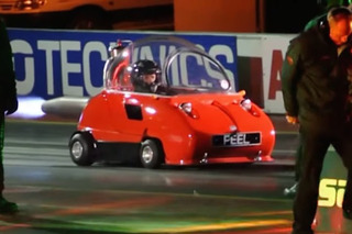 Watch the World's Smallest Rocket-Powered Car Take on a Quarter Mile
