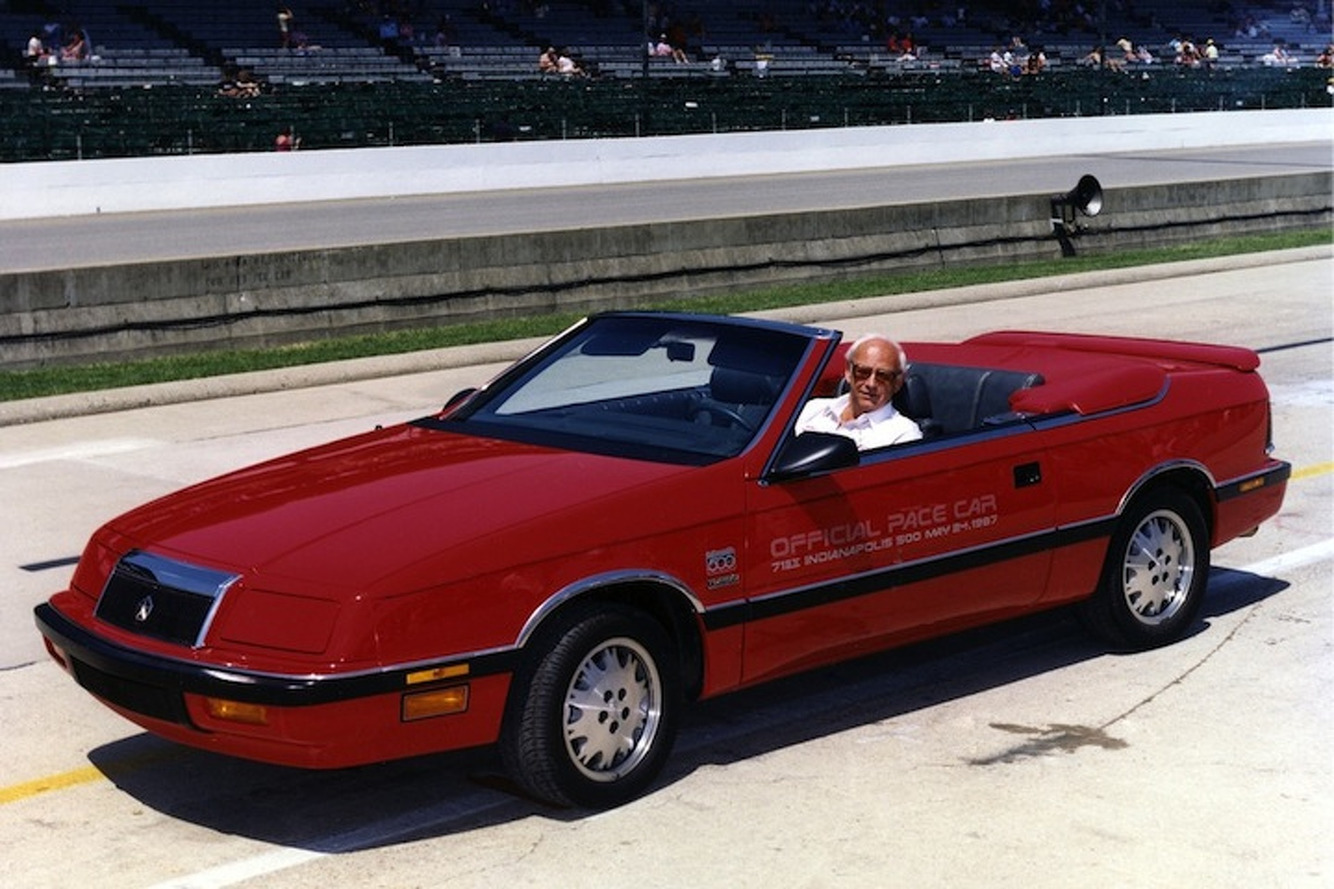 In 1987, Carroll Shelby Drove a Majestic Chrysler LeBaron Around Indy