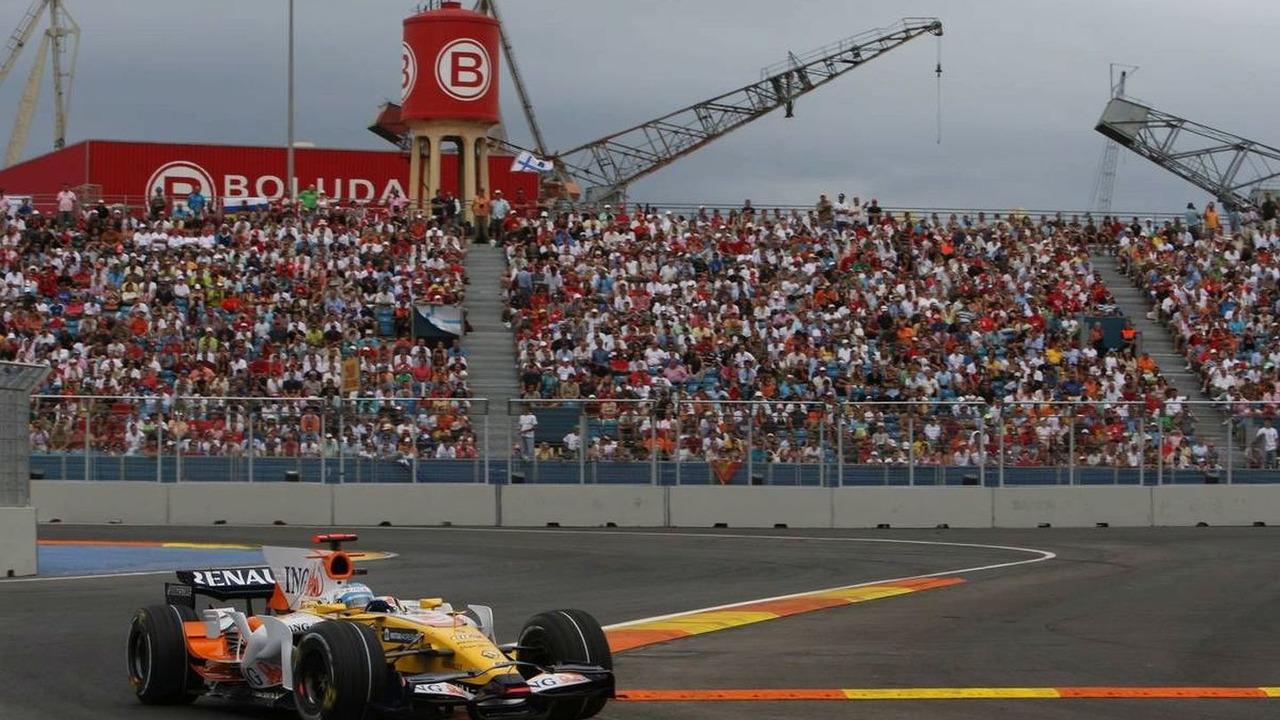 Fernando Alonso, European Grand Prix, Valencia, Spain, Qualifying 23.08.2008
