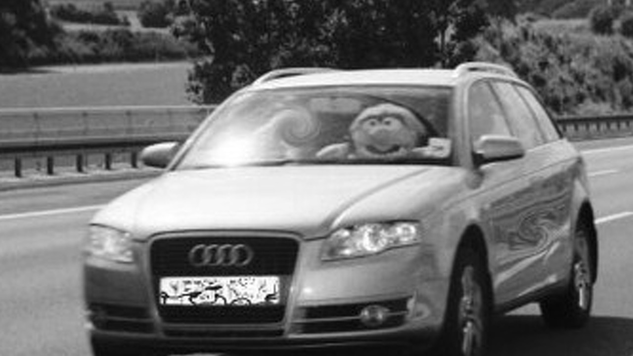Muppet caught speeding