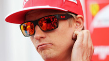 Kimi Raikkonen (FIN) Ferrari with the media / XPB
