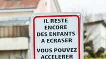 Traffic sign in Burgundy, France