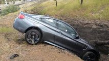 BMW M4 accident in France
