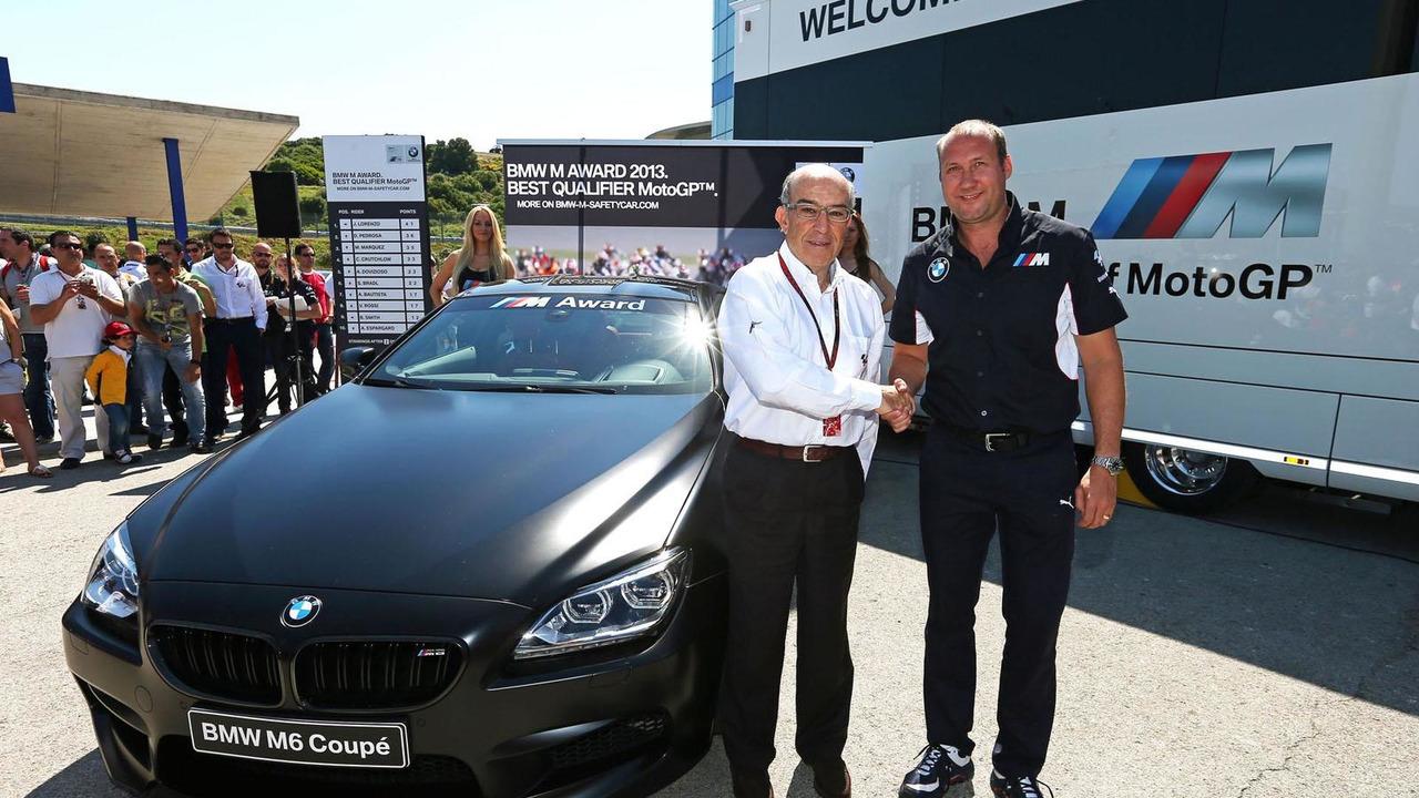 BMW M6 for best MotoGP qualifier 07.5.2013