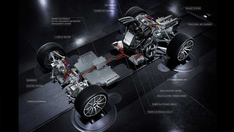 Merc-AMG Project One drivetrain - four electric motors