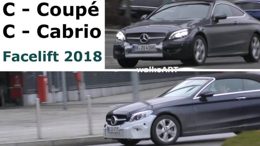 Updated Mercedes C-Class Coupe, Cabrio Spied With Minimal Camo