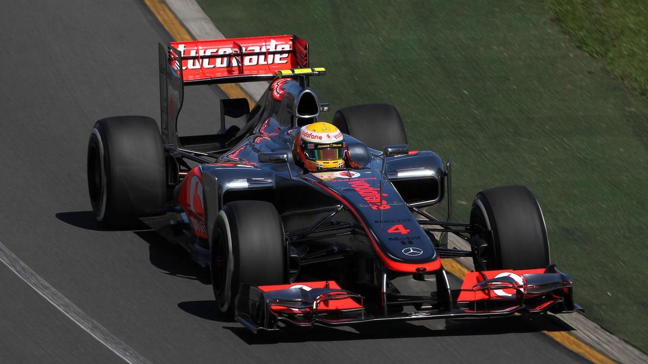 McLaren's Lewis Hamilton qualifies in pole position for Australian Grand Prix