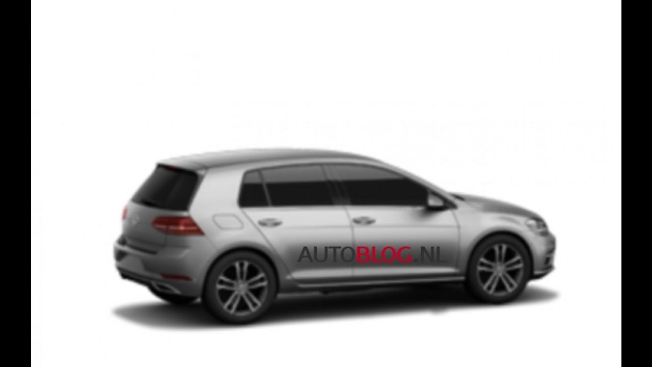 Vazou! Volkswagen Golf 2017 reestilizado aparece em primeiras imagens
