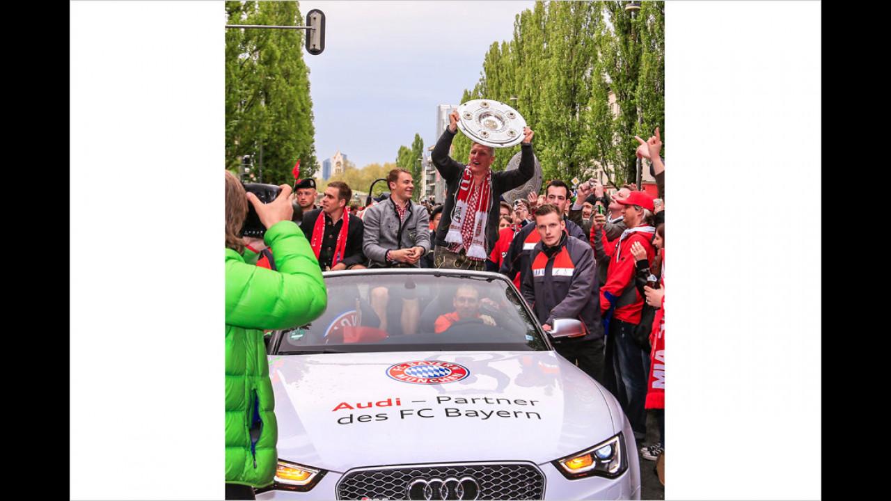Bayern München: Audi RS 5 Cabrio