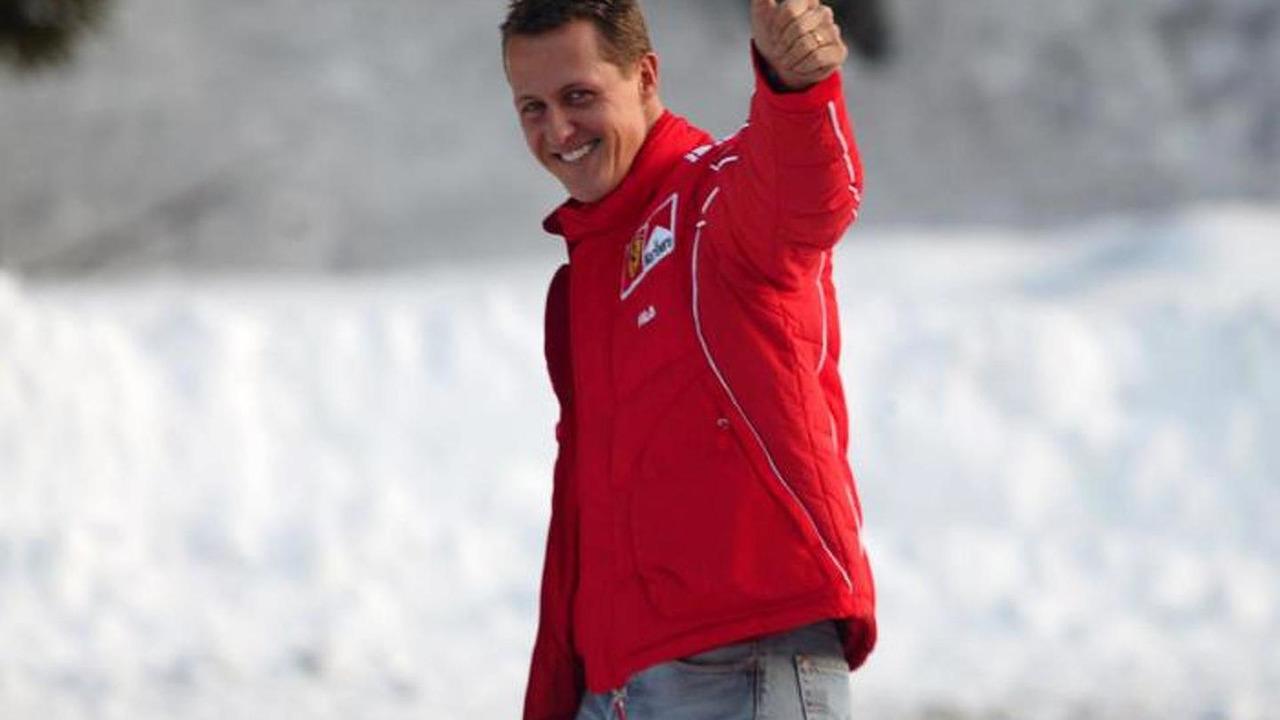 Michael Schumacher skiing at Wrooom annual Ski Press Meeting in Madonna di Campiglio Italy 14.01.2004
