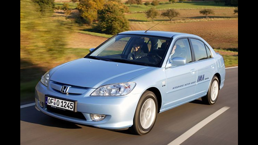 Honda Civic IMA: Hybridauto geht im Januar 2004 in Serie