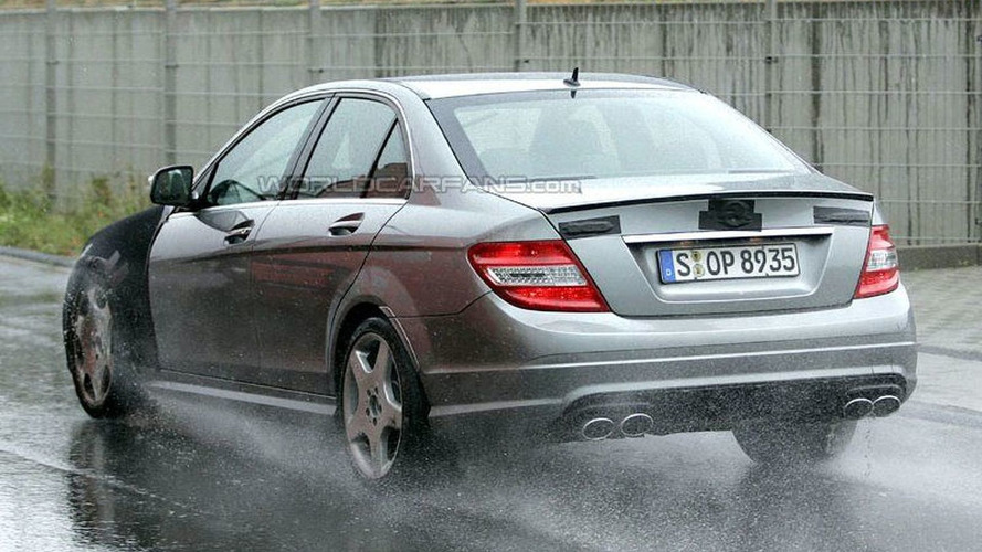 Mercedes C63 AMG Bad Weather Testing