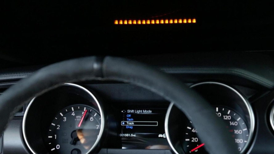 Ford presents Performance Shift Light Indicator display for Shelby GT350 [video]