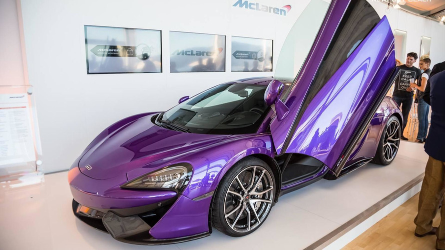 McLaren 570S Coupe painted in Mauvine Blue looks distinctive