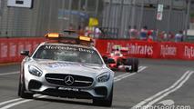 Kimi Raikkonen, Ferrari SF16-H behind the FIA Safety Car