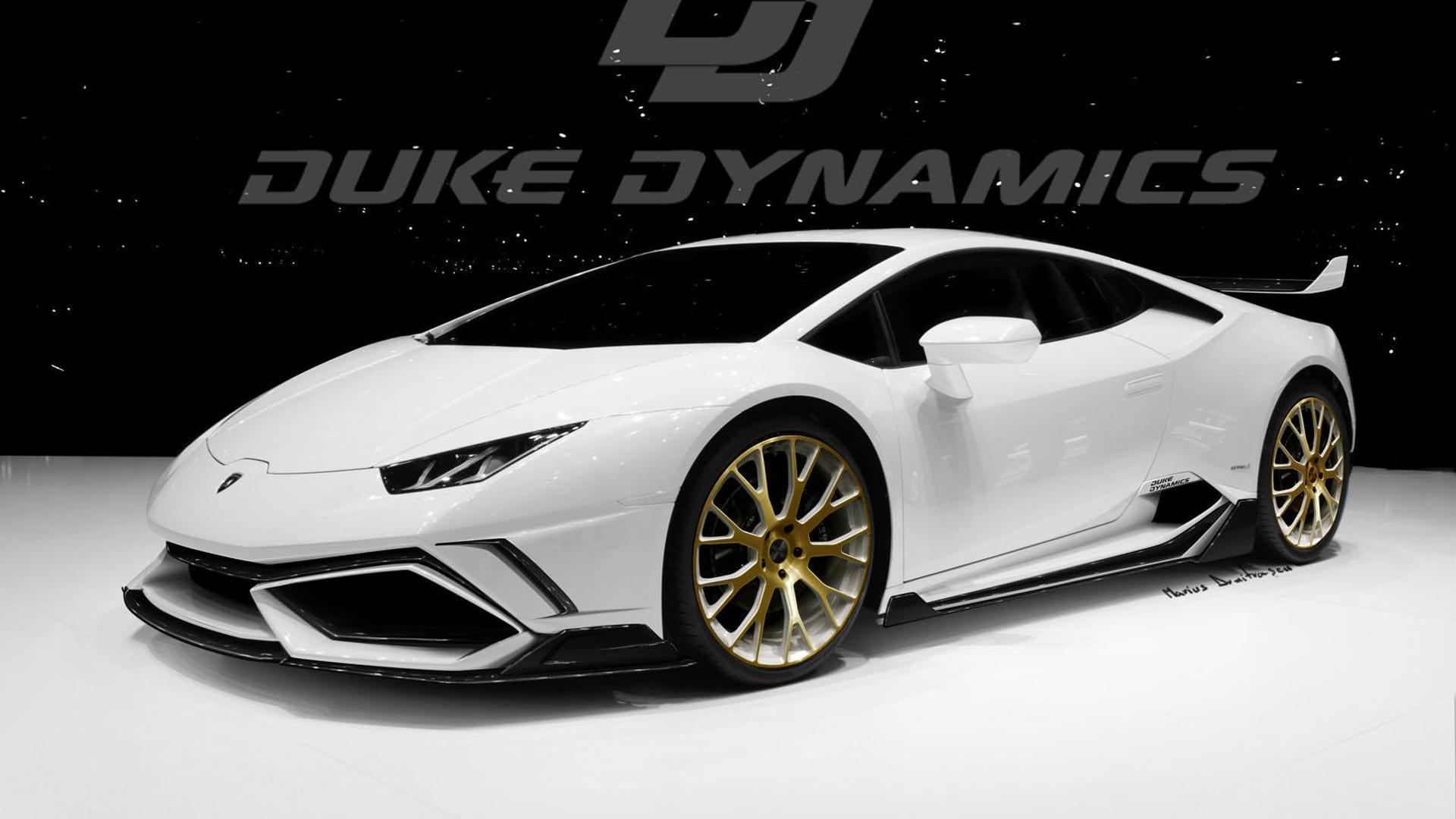 Белый Lamborghini Huracan от Duke Dynamics