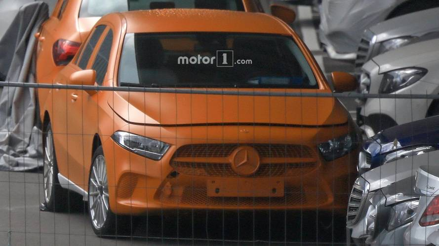 2018 Mercedes A-Class without camouflage spy photos