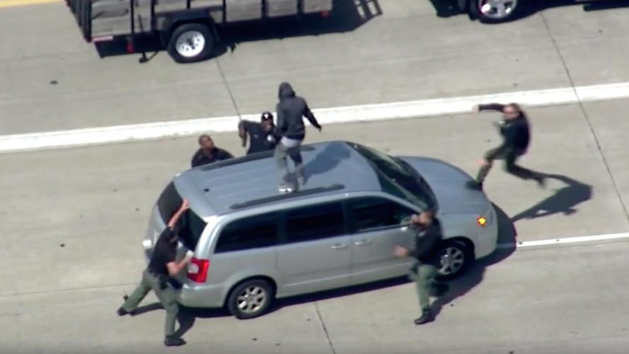 Amerika'da çılgın polis kovalamacası tutuklama ile sonlandı