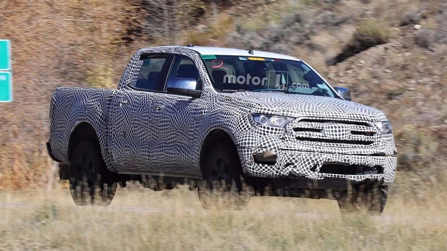 Flagra - Ford testa Ranger 2019 com novo visual