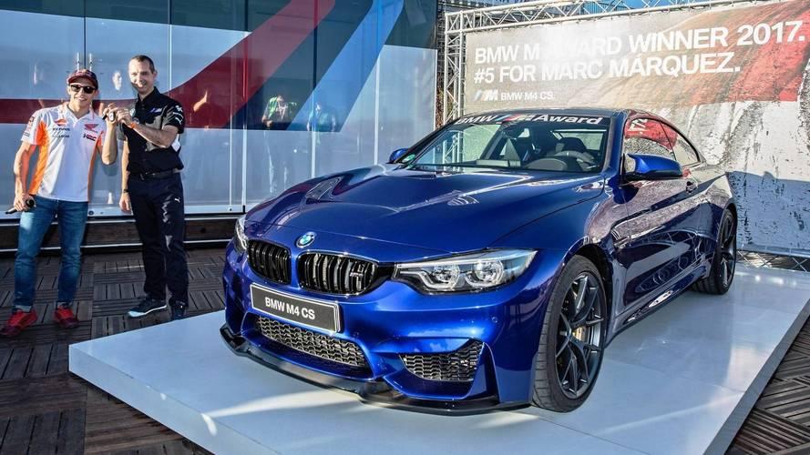 Egy BMW M4 CS lett Marquez jutalma a legtöbb pole-pozícióért