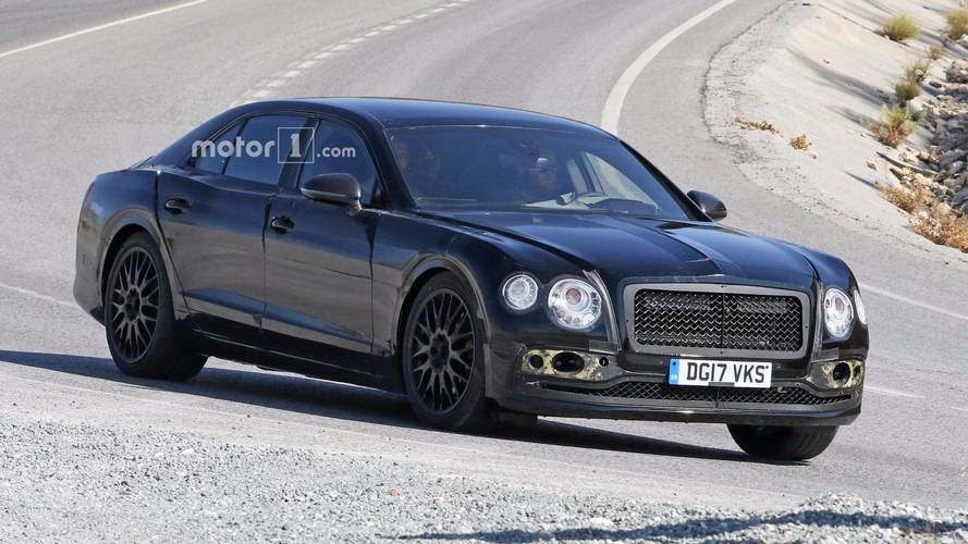 New Bentley Flying Spur Caught Wearing Full Camo Attire