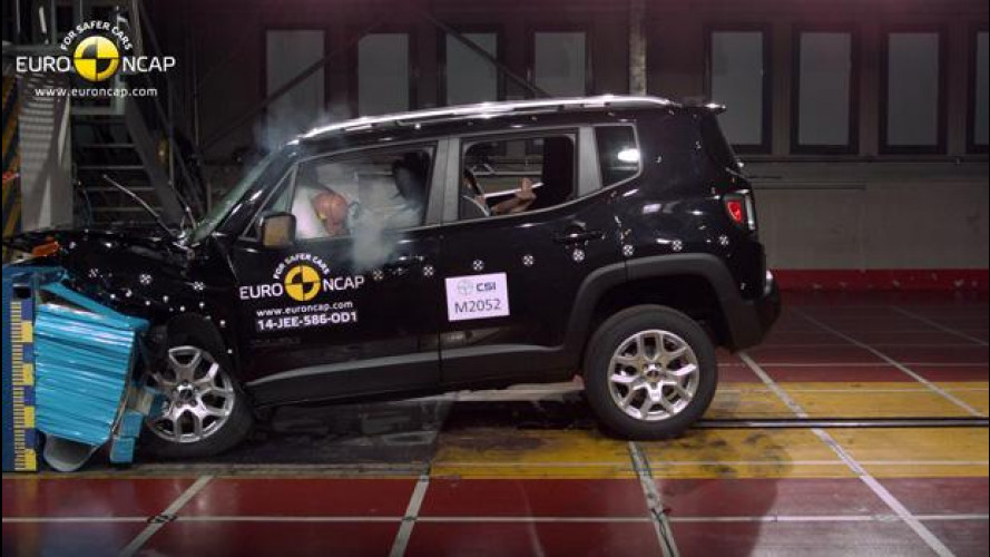 Crash Test Euro NCAP, 5 stelle per Jeep Renegade