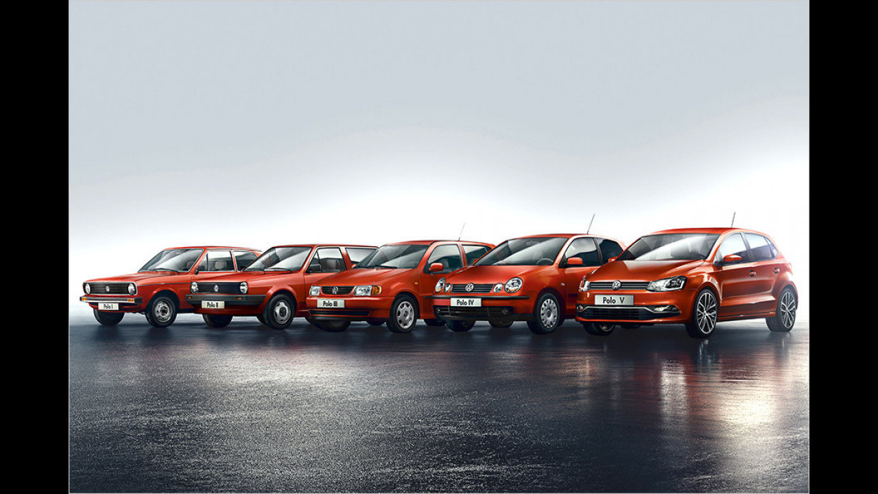Fünf Generationen VW Polo