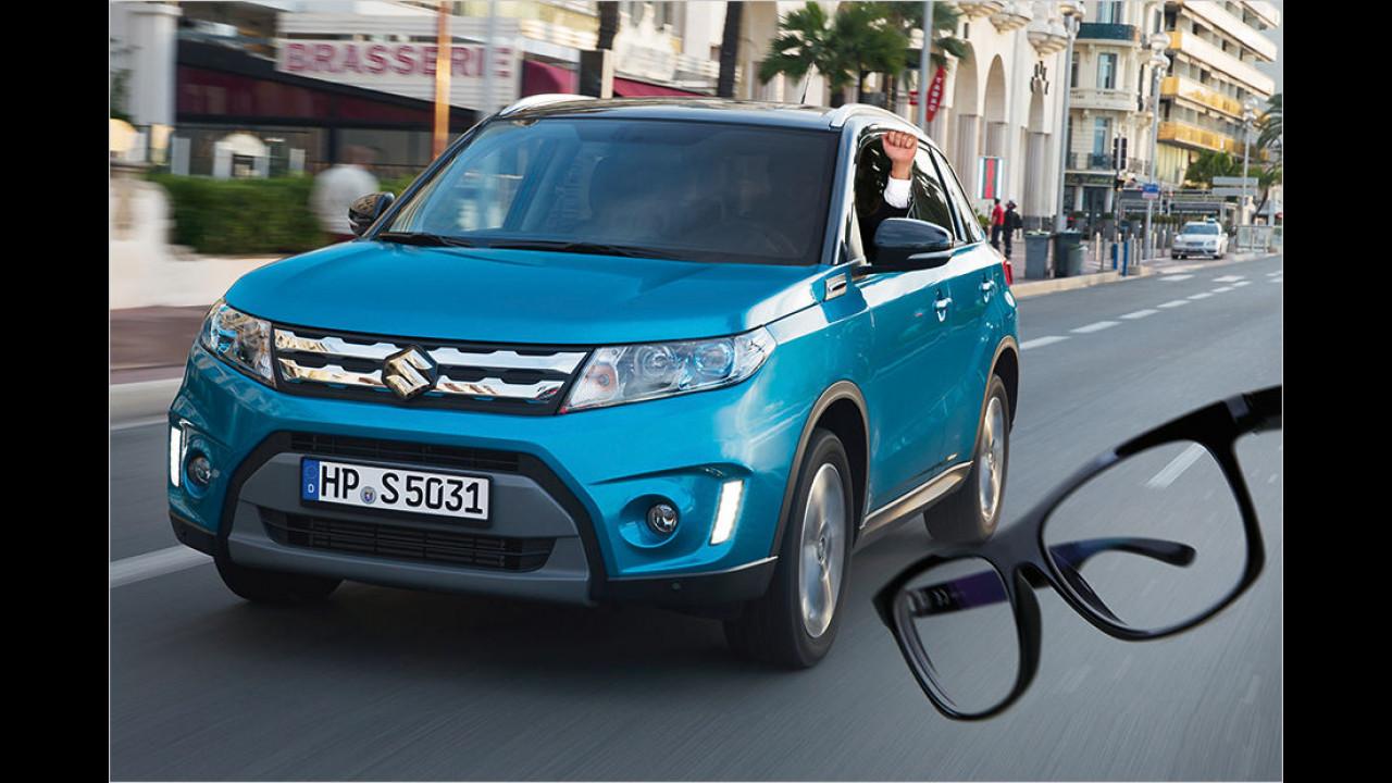 Suzuki bietet Autoverglasung in Sehstärke an