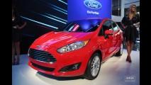 Salão do Automóvel: New Fiesta Sedan reestilizado faz estreia mundial acompanhado do hatch - Modelos terão câmbio Powershift e novidades nos motores