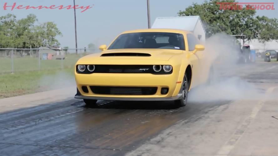 Hennessey Dodge Demon Clocks Crazy 9.14-Second Quarter-Mile Time
