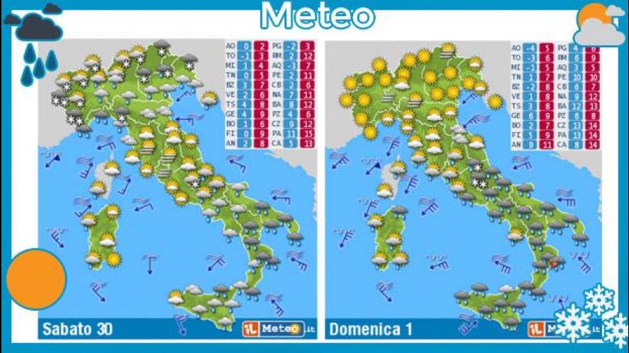 Meteo del fine settimana 30 novembre e 1 dicembre 2013