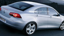 Rear View of 2005 Passat artist rendering