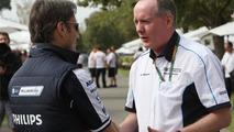 Adam Parr, Williams F1 Team, Mark Gallagher (IRL), General Manager of Cosworth's F1 Business Unit, Australian Grand Prix, 27.03.2010 Melbourne, Australia