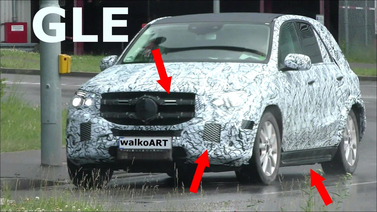 Mercedes-Benz GLE-Class Spied