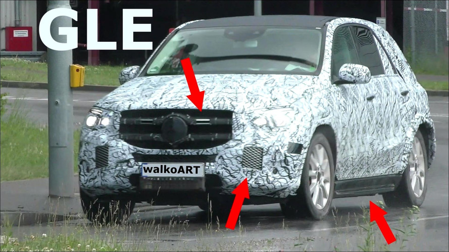 2019 Mercedes GLE Spied With Less Camo On Grille And Side Sills