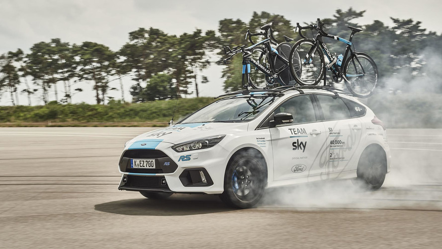 La Ford Focus de la Sky pour le Tour de France