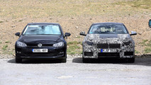 BMW Serie 1 2018, junto al Volkswagen Golf
