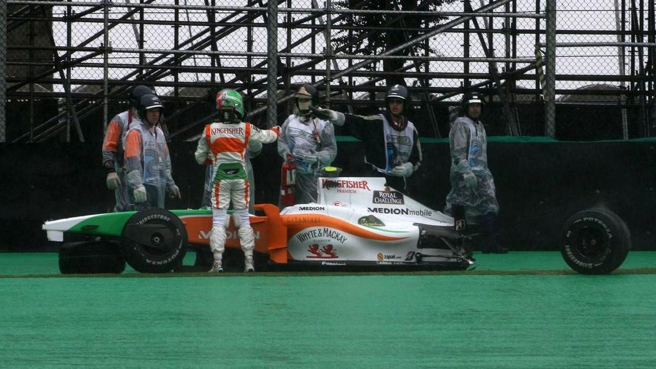 Vitantonio Liuzzi (ITA), Force India F1 Team - Formula 1 World Championship, Rd 16, Brazilian Grand Prix, Saturday Qualifying, Sao Paulo, Brazil, 17.10.2009