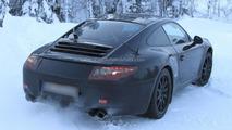 2012 Porsche 911 spied stuck in snow 19.01.2011