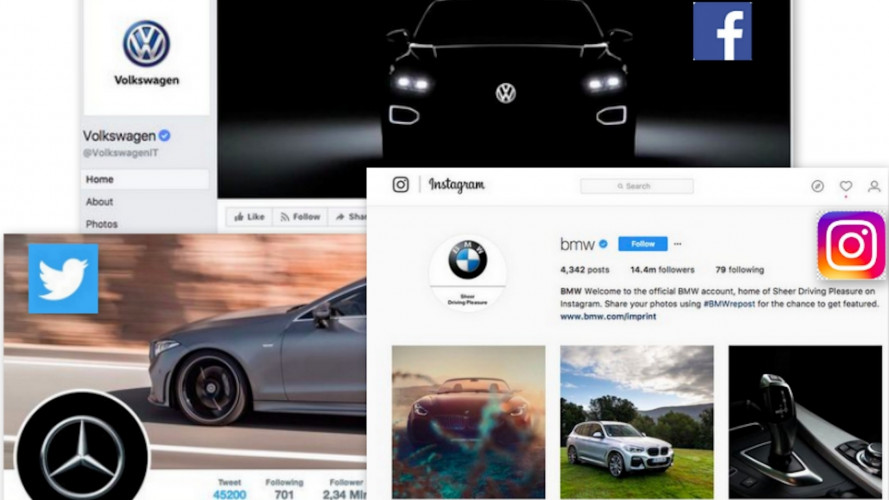 Volkswagen, BMW e Mercedes regine dei social network