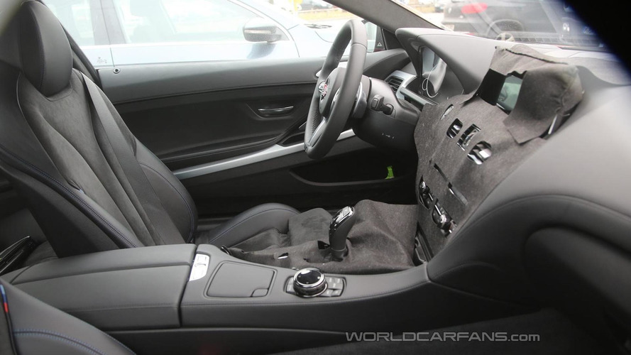 BMW 6-Series Coupe facelift spied hiding revised dashboard